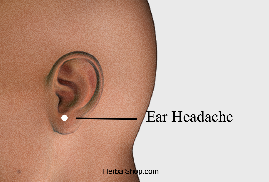 acupressure point ear headache