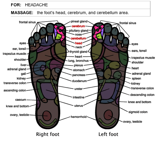 How to stop headaches with foot massage herbalshop