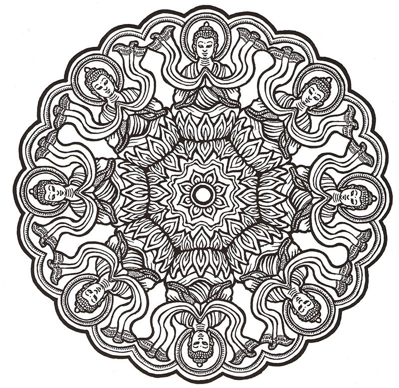 Color Me Happiness - Mandalas for Relaxation - HerbalShop