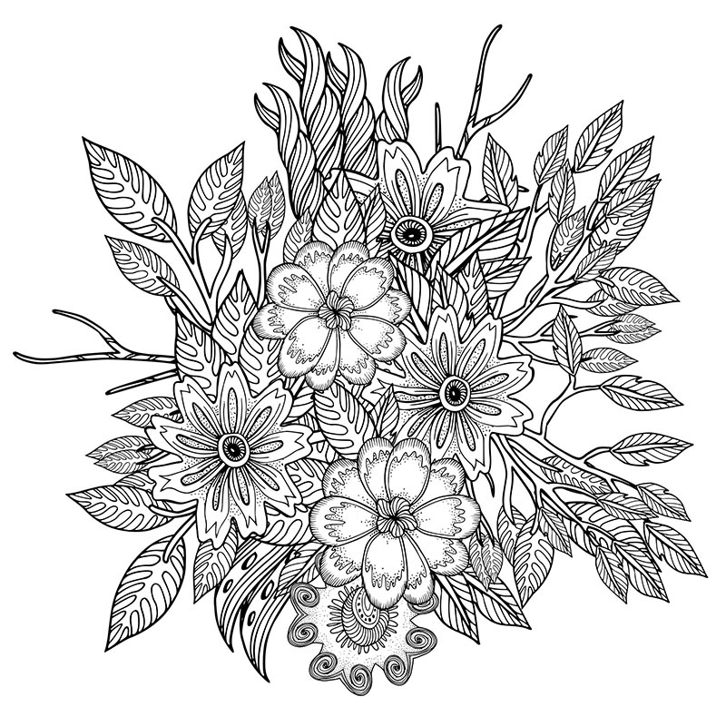 Free downloadable stress relief coloring design herbalshop for Stress relief coloring pages online