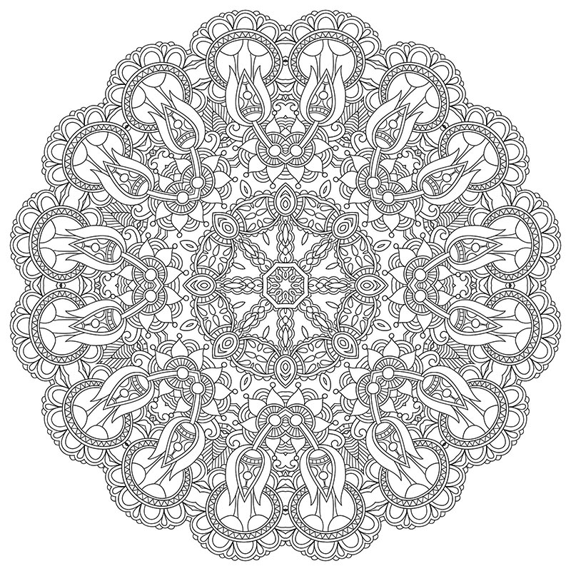 free downloadable mandala coloring image for stress relief